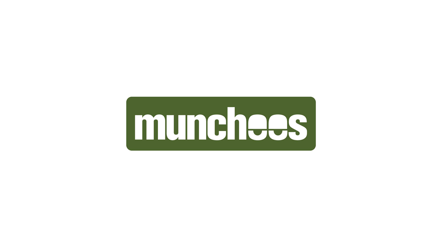 "We were hired by a company called Munchees to create their logo. They are a restaurant chain focused on food for those at a ""higher"" elevation mentally. The logo combines a typographic treatment with droopy eyes."