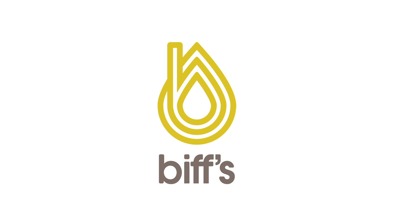 "Biff's Balm is a CBD Balm brand aimed at healing sports injuries and alike. They wanted to create a solid brand that also left them open for growth into other products besides the balm they currently make so that is why we chose to leave the ""balm"" off the logo. The icon is a combination of an oil droplet (CBD Oil) and a lowercase B. We wanted to stay away from a lot of the cliché green hues used in the marijuana and cannabis markets."