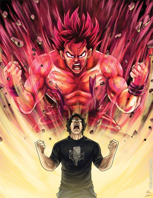 Goku and Sean Schemmel