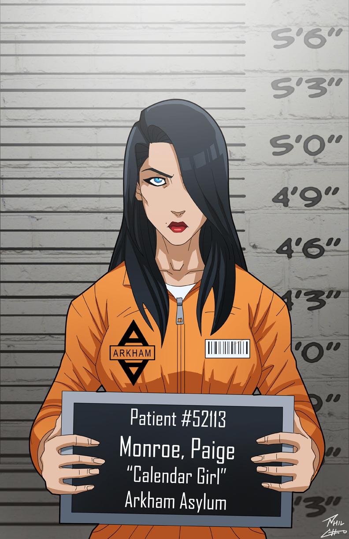 Paige Monroe locked up