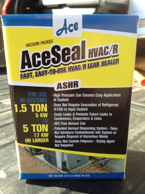A new product from Ace that offers some great advantages.      AceSeal Advantages that are great for contractors:  1. Not Moisture Activated -  the others are so this is a big advantage.  2. Pressurized Can (140lb) -  others are either not pressurized or only to 40lbs  3. Comes with a clear hose -  Easy visual inspection.  4. Competitive price w/ select distribution -  Better product for less money. Not everywhere in the market. These four things stand out against anything else on the market....      TAGS: HVAC Atlantic Chemical ACE Copper Coil AC Air Conditioning
