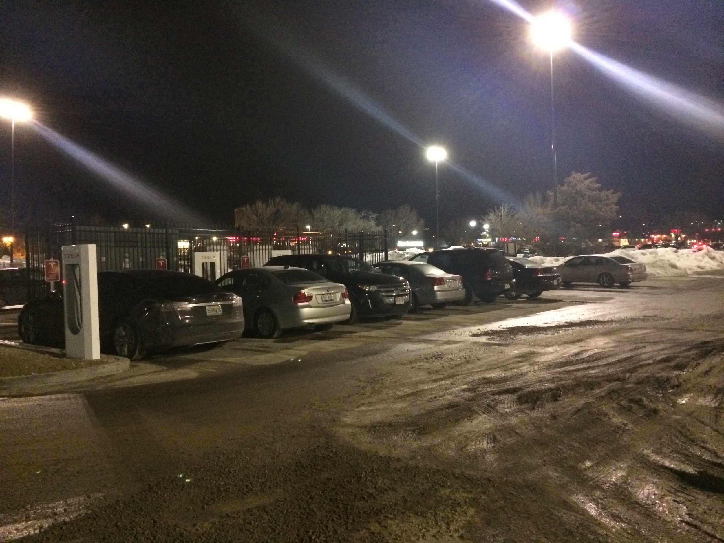 Nearly ICEd in Madison  ICEing is a douchy practice whereby drivers of internal combustion engine (ICE) cars take up electric vehicle charging stalls for no good reason other than to be 10 feet closer to stuffing their fat faces with chicken at the Buffalo Wild Wings.