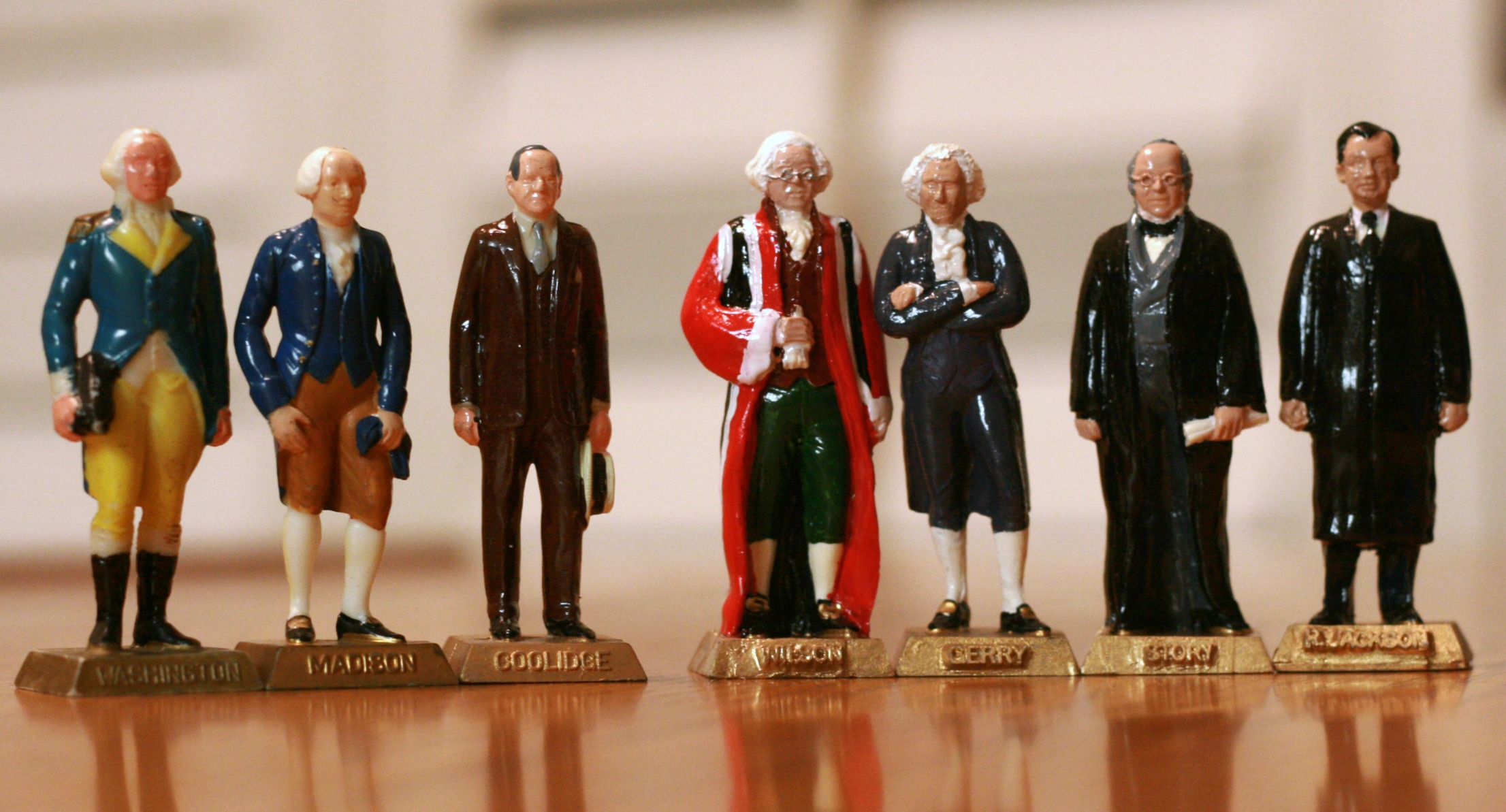Marx figures: George Washington, James Madison, Calvin Coolidge; Verrone figures: James Wilson, Elbridge Gerry, Joseph Story, Robert Jackson.