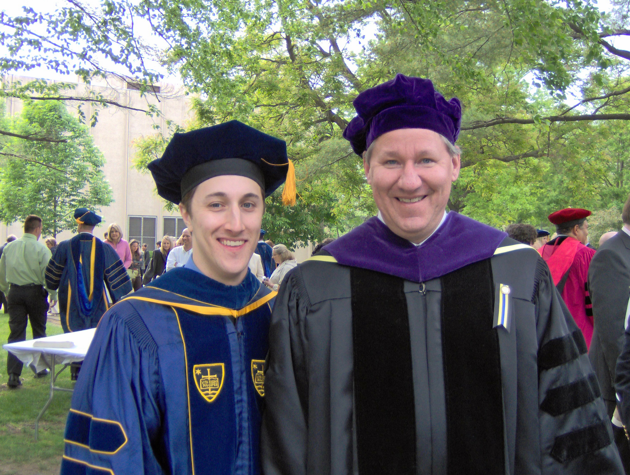 With John Nagle at the Notre Dame Law School Commencement, May 20, 2007