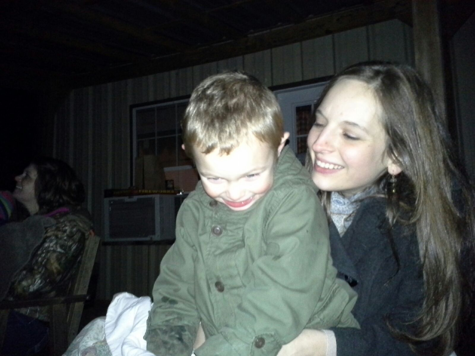 Enjoying New Year's fireworks with my Ezra man!