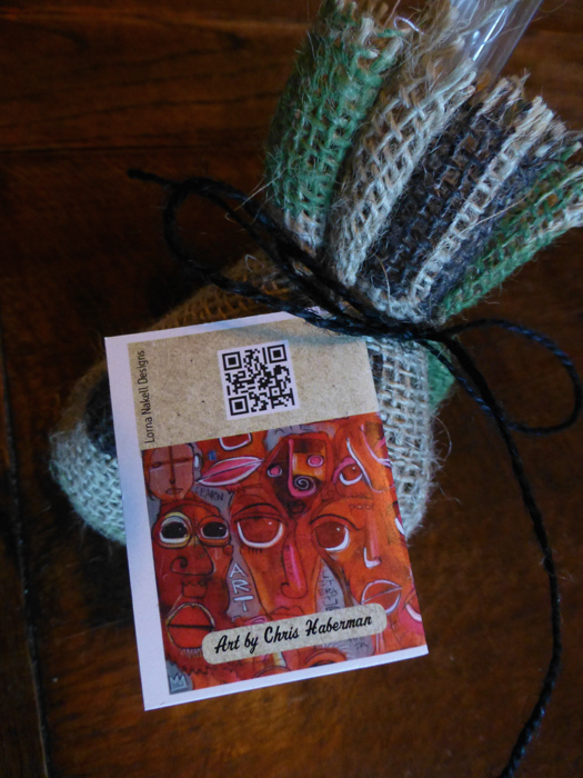 I added a QR code to the back that links to the I Am Not a Poet landing page.