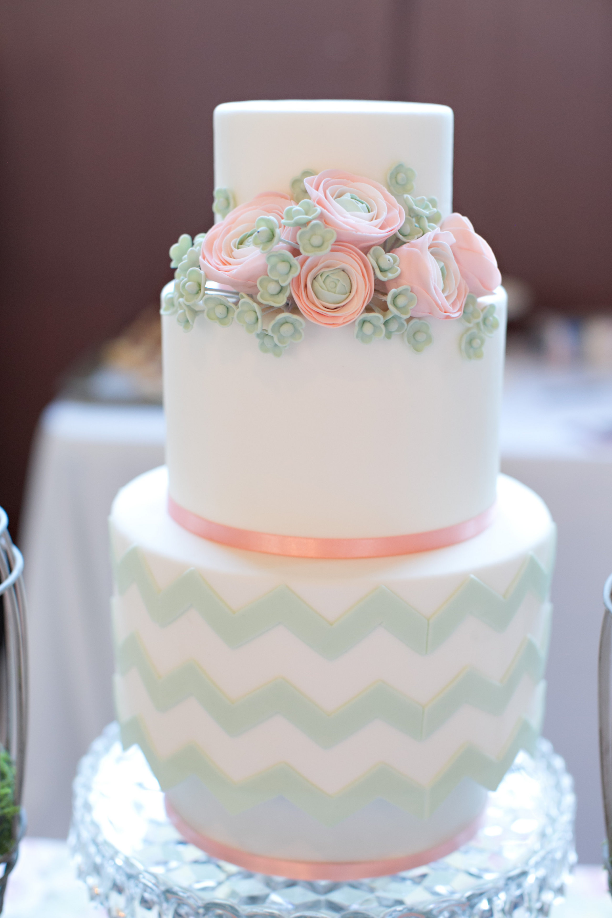 "Lydia Photography....""Peach sugar ranunculus and green chevron"""