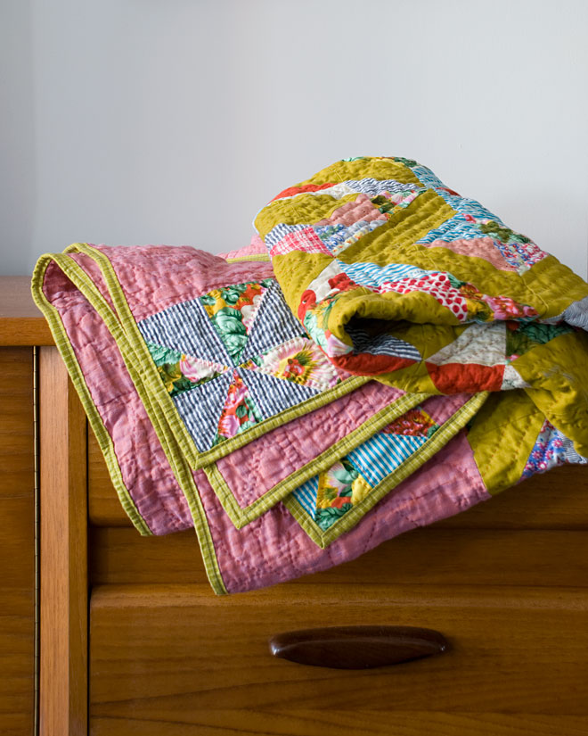 Lattice Quilt , machine pieced and hand quilted. 2010
