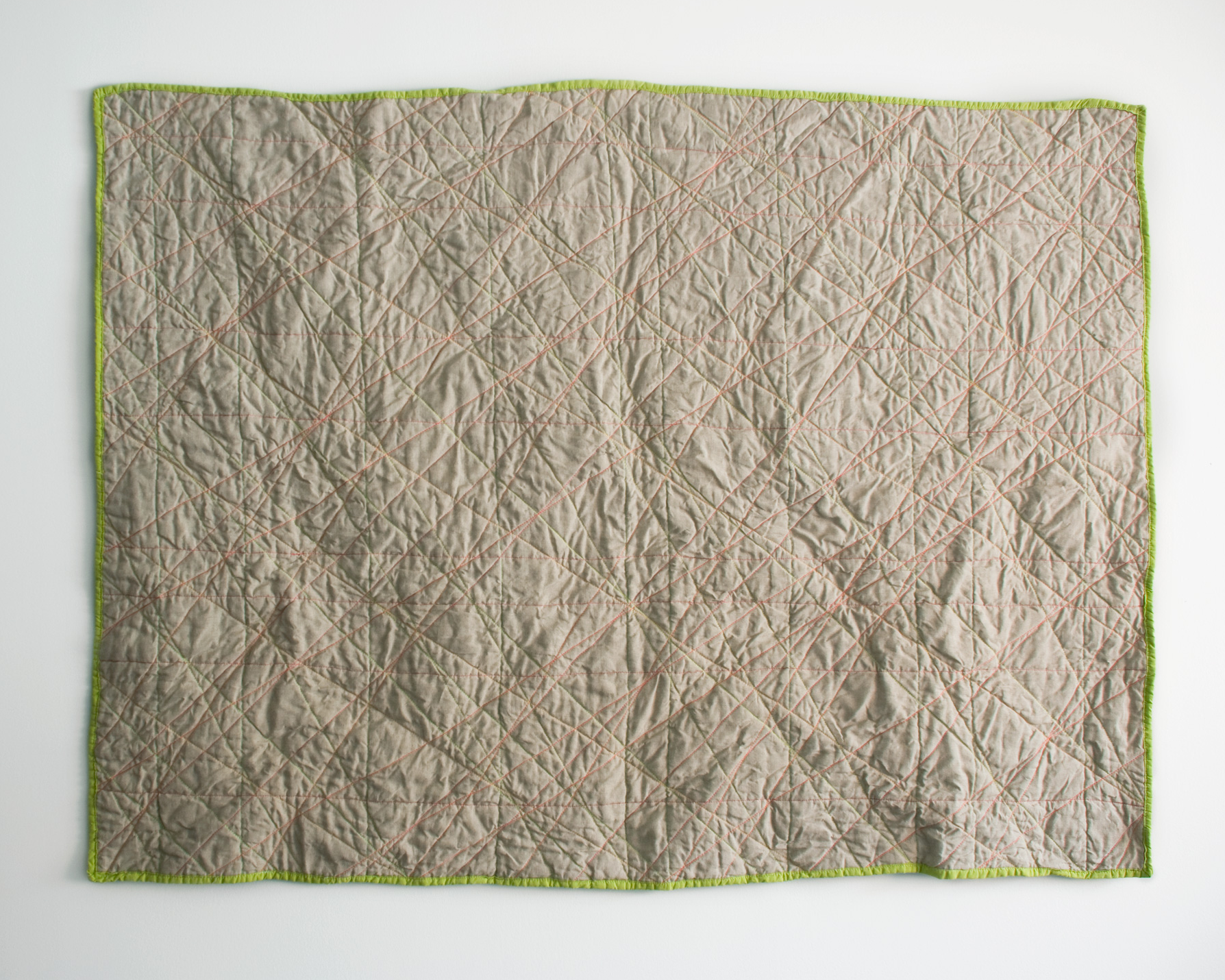 Linen and Dayglo , whole cloth machine quilted. 2011  Buy
