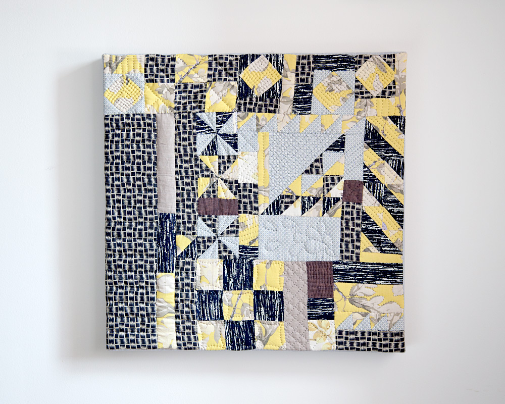 Scraps V.1,  hand pieced and quilted. 2013