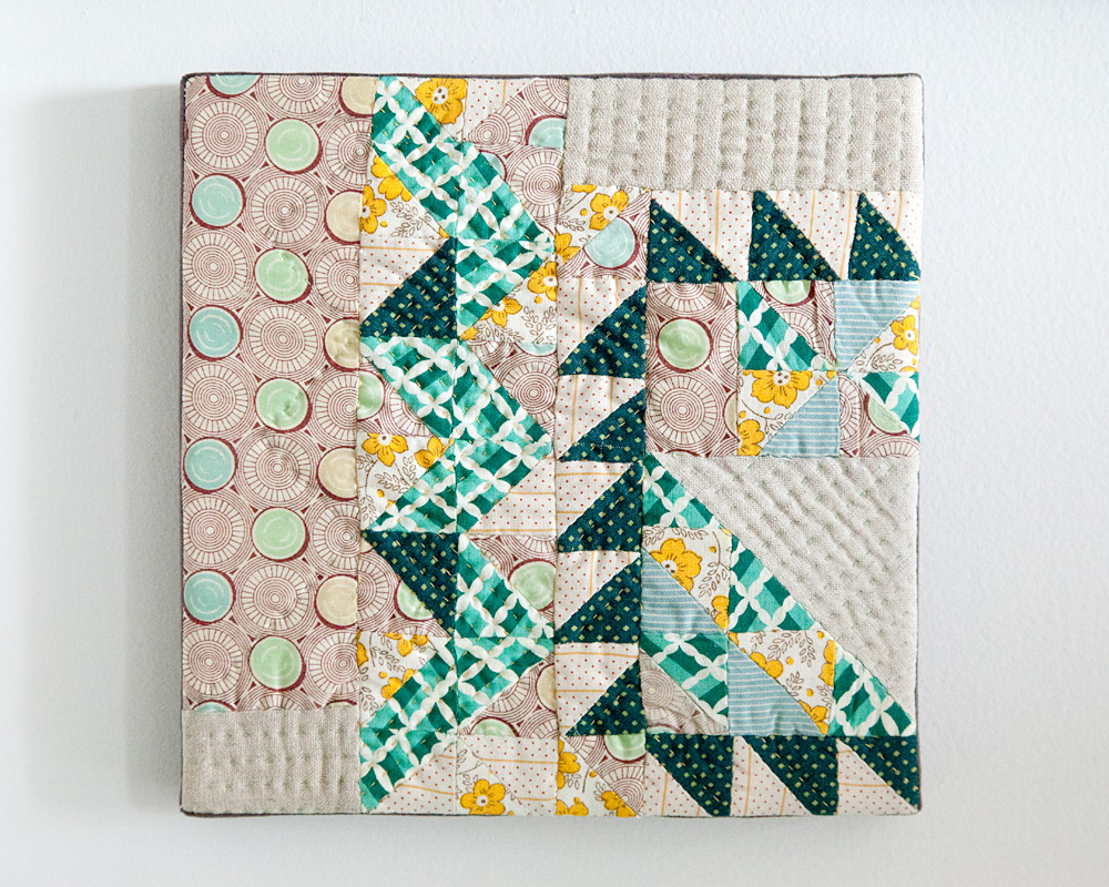 Scraps V.2 , hand pieced and quilted. 2013