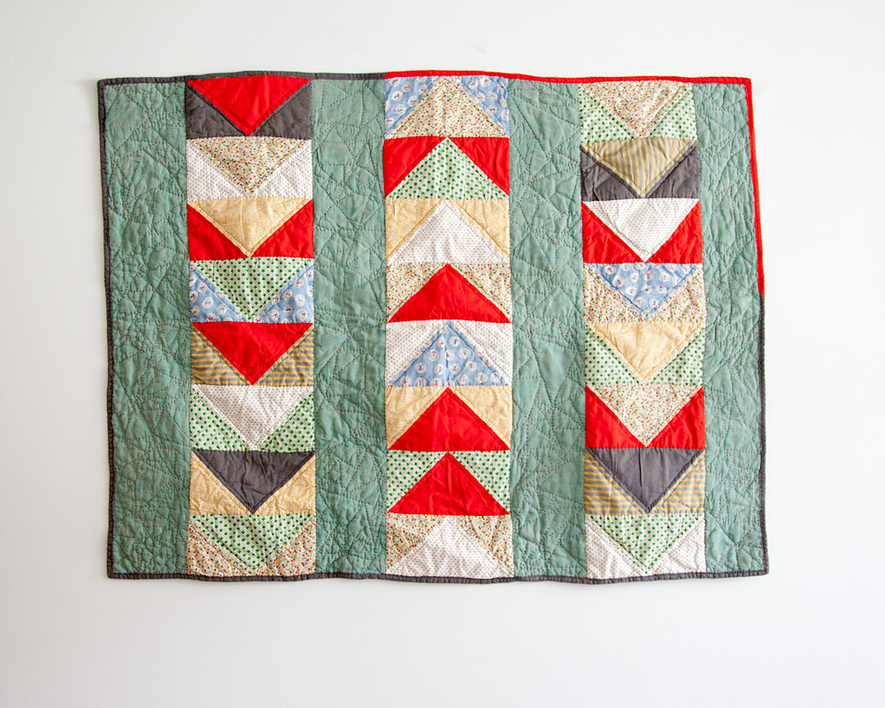Little Goose , machine pieced and hand quilted. 2013