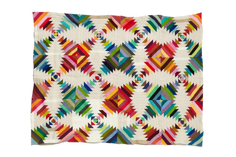 N+K's Wedding Quilt (in progress Jan 2014),machine pieced.