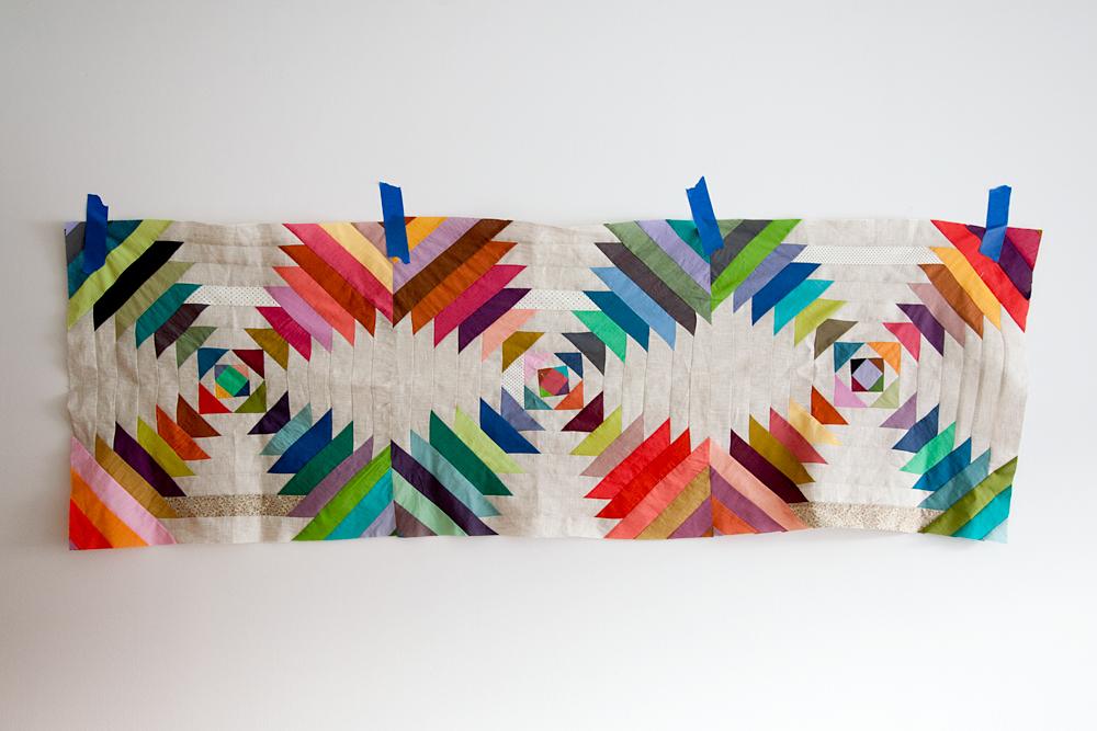 N+K's Wedding Quilt (in progress Nov 2013),machine pieced.