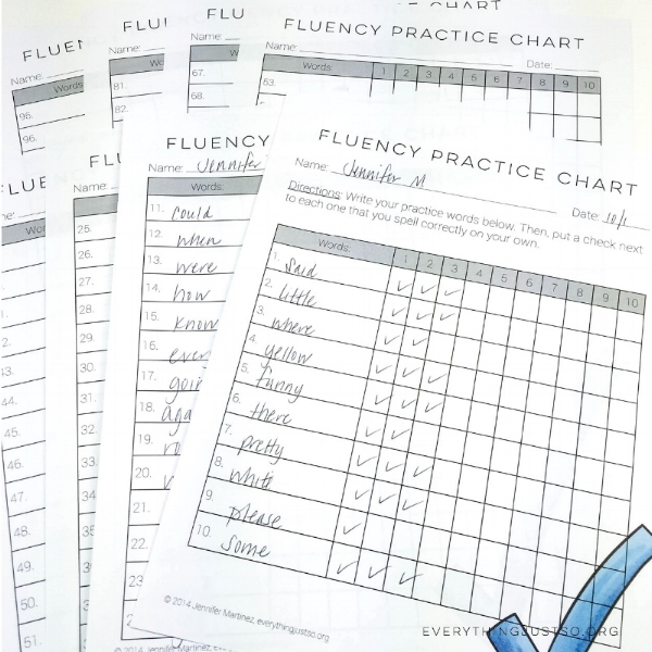 How to Improve Spelling Accuracy with Fluency | Learn how to deliver spelling help for students who struggle with high frequency words. An Orton Gillingham practice, Spelling Fluency provides a multisensory approach through which students learn to spell the words they use most often in their reading and writing. | everythingjustso.org #spellingfluency #spellinglessons #upperelementary #sightwords