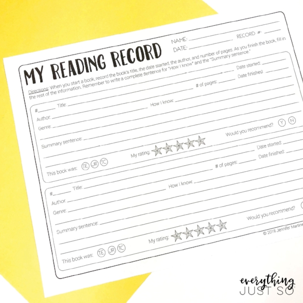 Book Whispering Plus the Best Tips for Stocking Your Library | After years of practice, and one impactful workshop, I share how my ideas on in-class reading and homework reading logs have changed. Plus read about my very best tips for stocking your classroom library for little to no cost. | everythingjustso.org #upperelementary #readinglogs #reading #childrensbooks