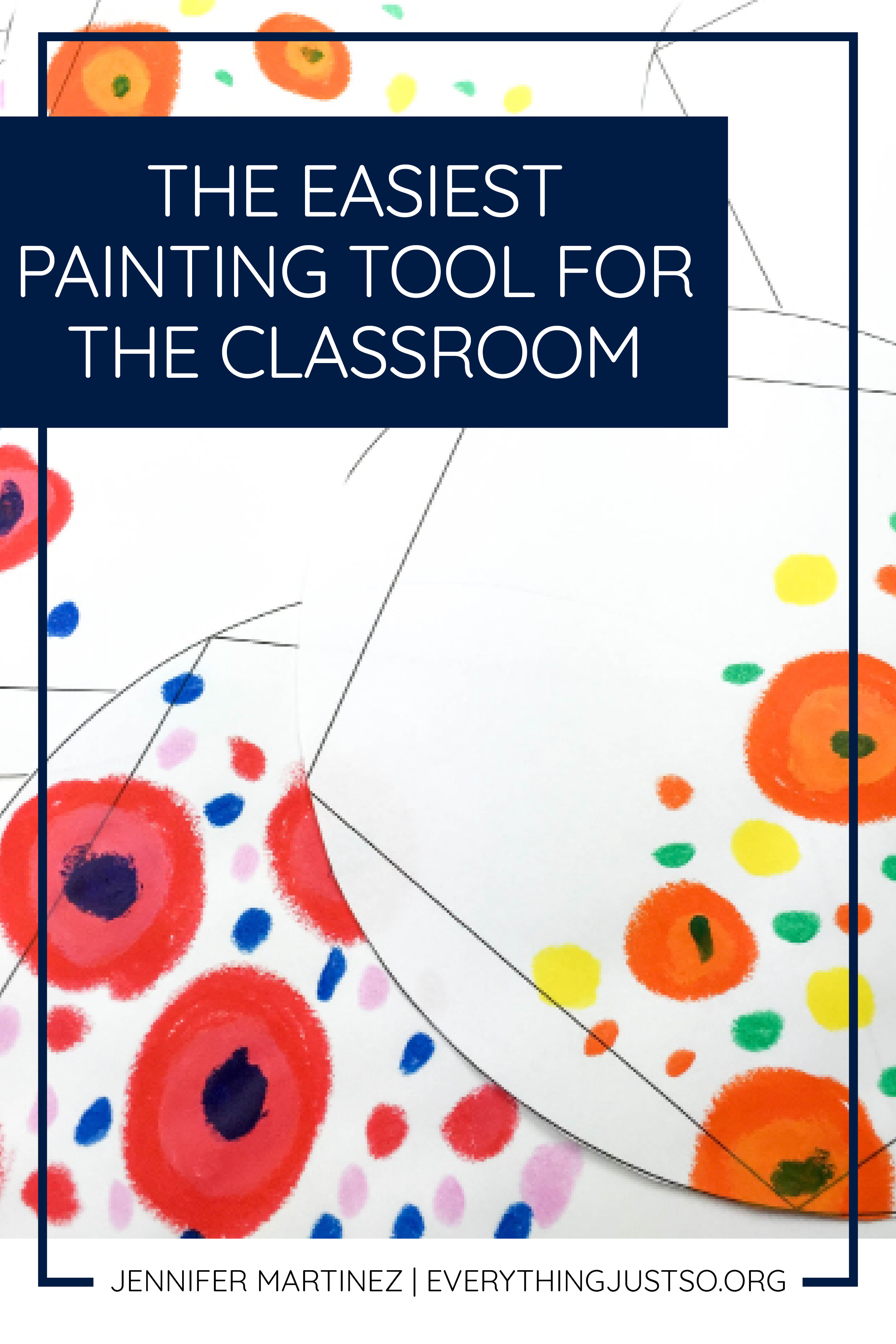 The Best Tool for Art Projects I Have Ever Seen | Love art projects but hate the mess? Use this painting tool and never have a mess again. | everythingjustso.org #upperelementary #artprojects #artintheclassroom