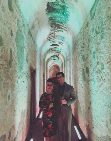 This is Victor and I in some ruins in Antigua, Guatemala at a very fancy evening!