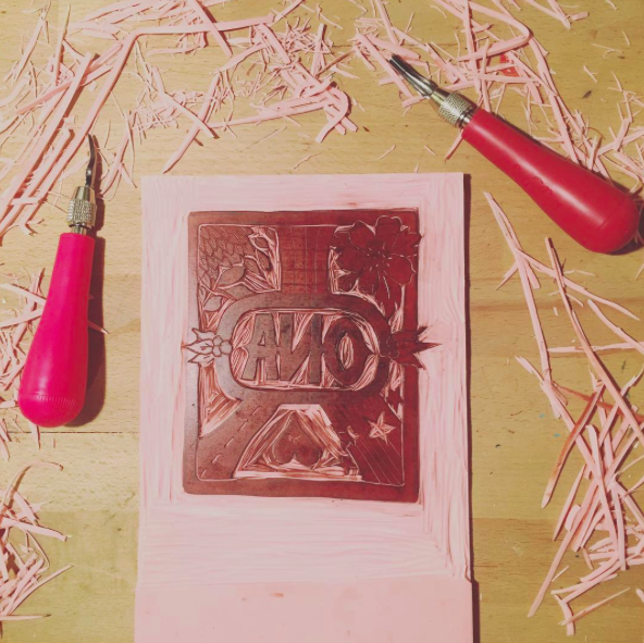 This is what the carving looks like.