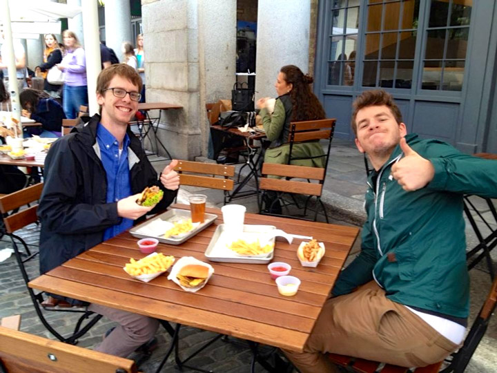 Nick and I eating Shake Shack!