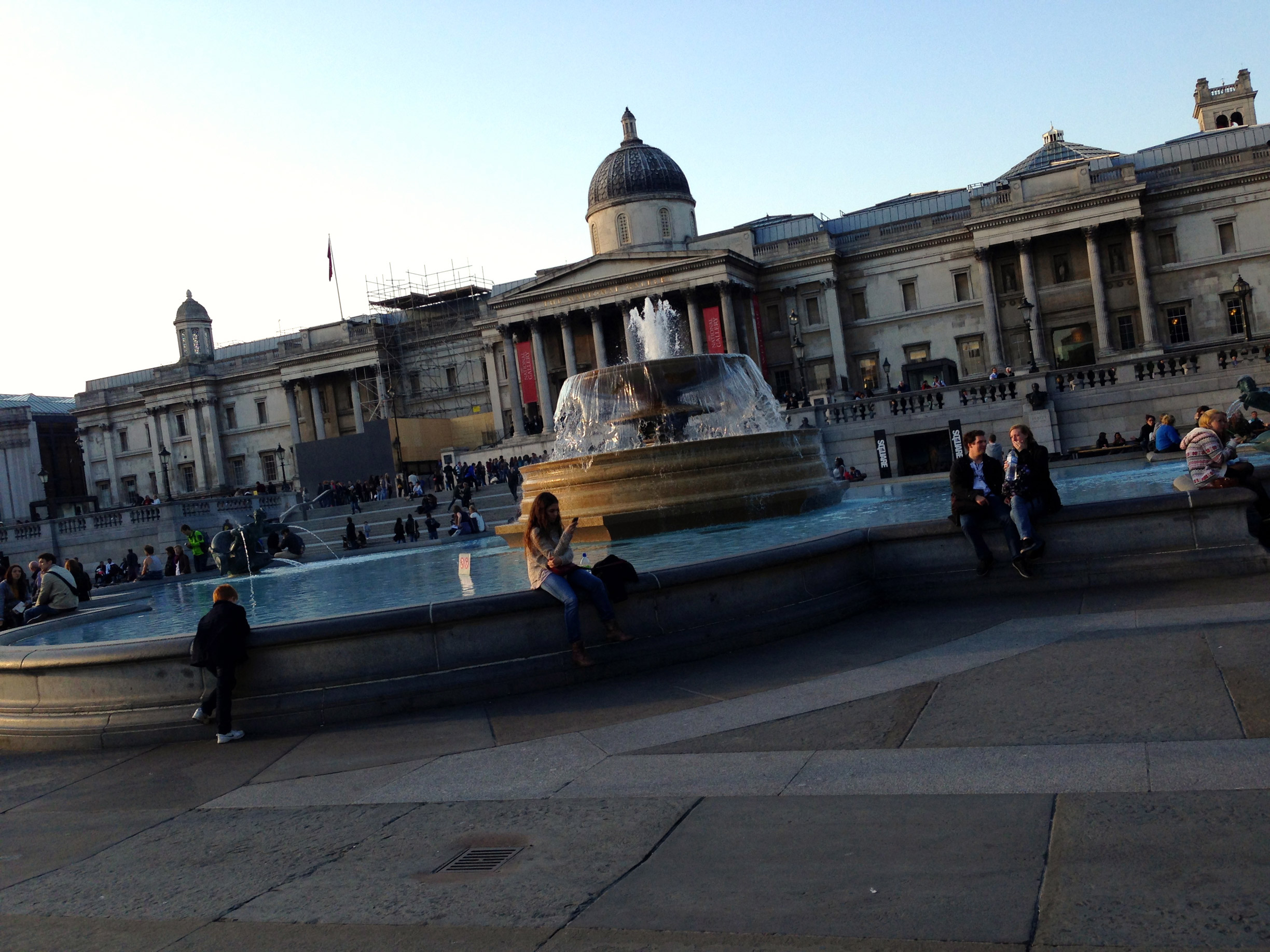 The National Gallery and Trafalgar Sqaure