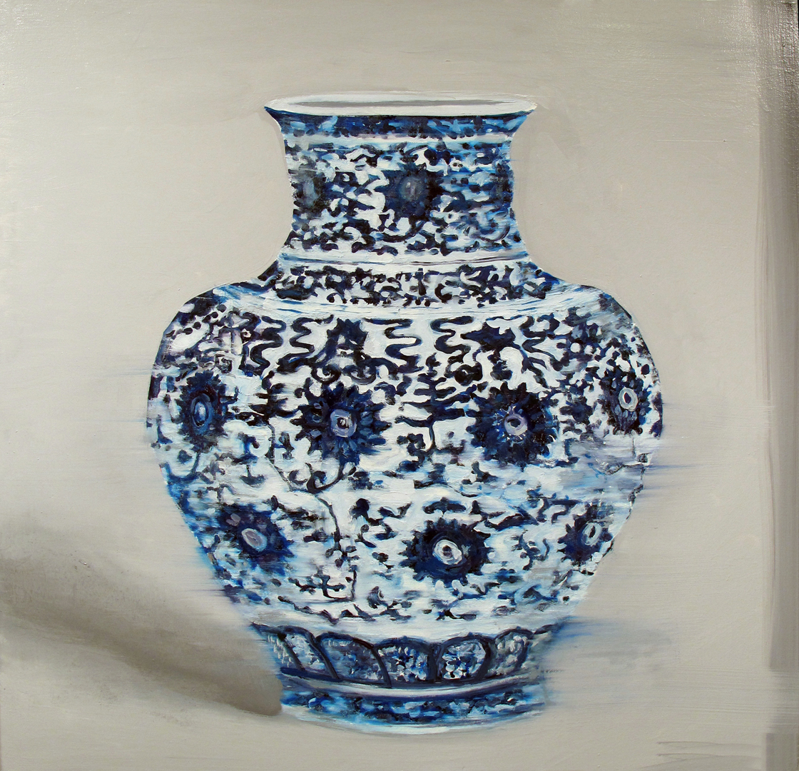 "Ming High (bid), 30x30"", oil on canvas, 2013"