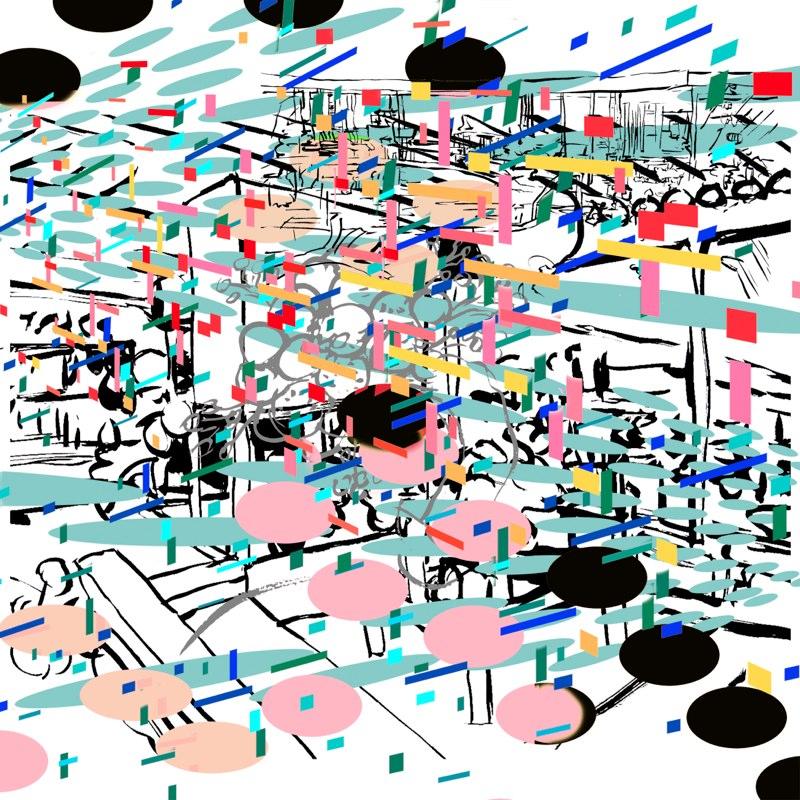 "Pool Op,  18x18"", 3D Lenticular Print, 2009"