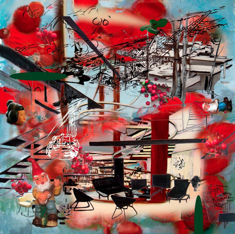 "Cherry Nuetra, 24x24"", 3D Lenticular Print, 2009"