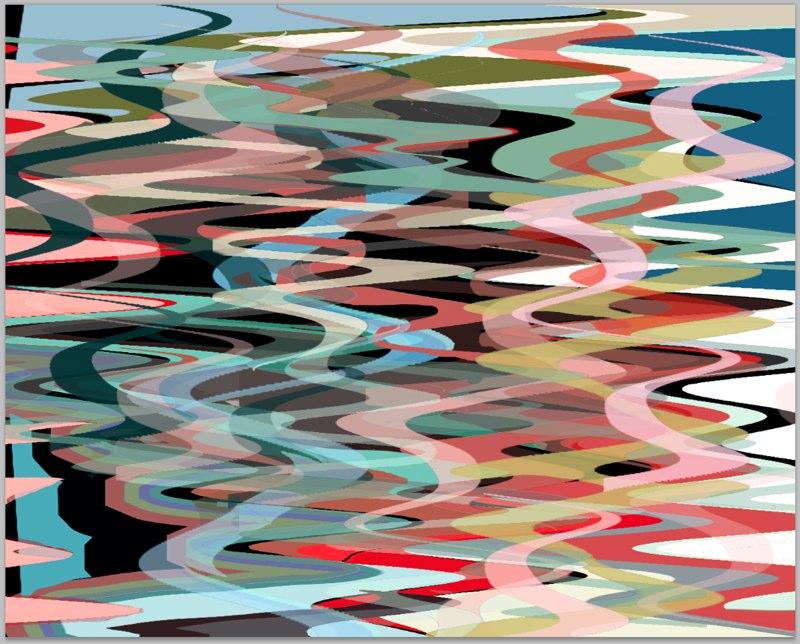 "Orient Wave, 16x20"", 3D Lenticular Print, 2013"