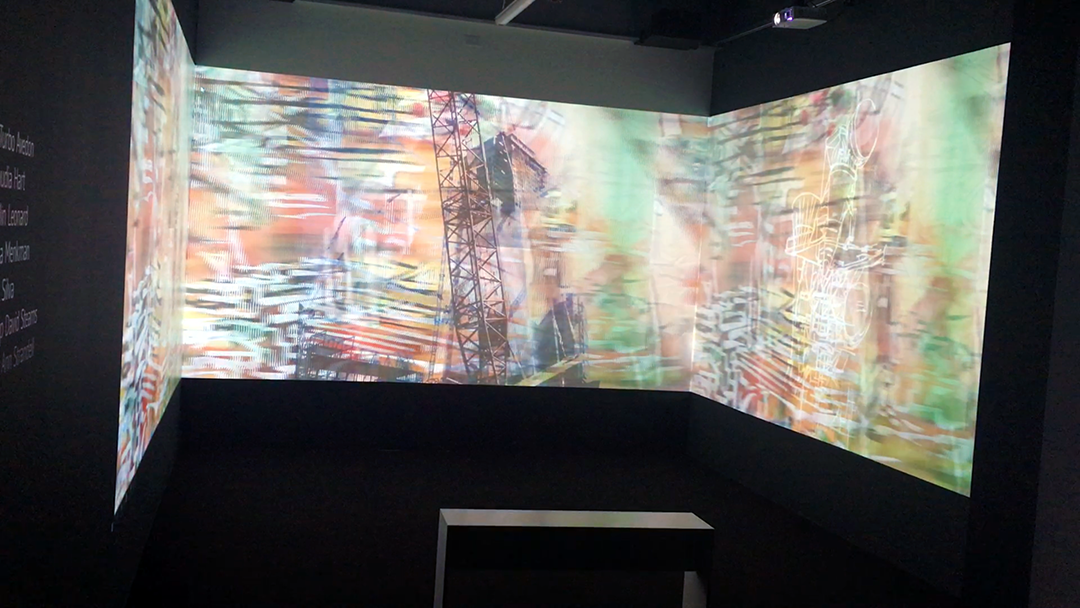 Trompe l'oeil (and Other Spatial Anxieties), 3-channel video installation, TRANSFER Downloads, Curated by Kelani Nichole, Minnesota Street Project, San Francisco, 2016 http://transfergallery.com/transfer-download-minnesota-street-project/