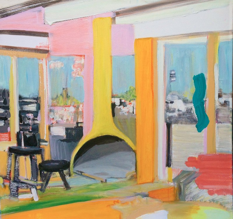 Megan Draper's LA , 24x24 inches, oil on canvas, 2015.