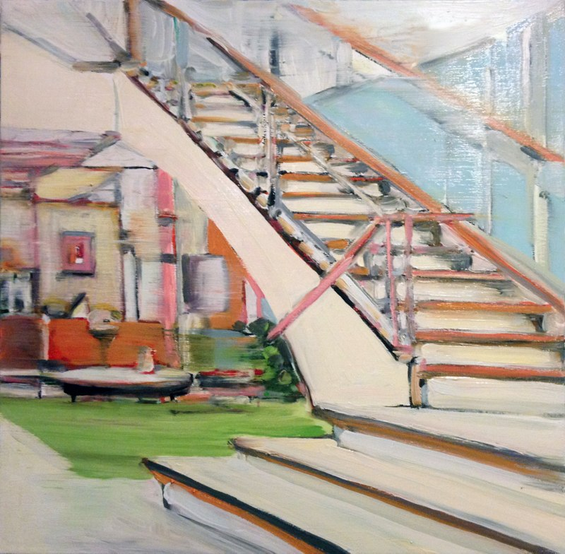 Mad Man Stairs , 24x24 inches, oil on canvas.