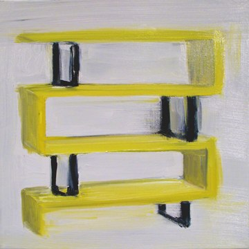 "Shelf , oil on canvas , 12x12"" , 2013."