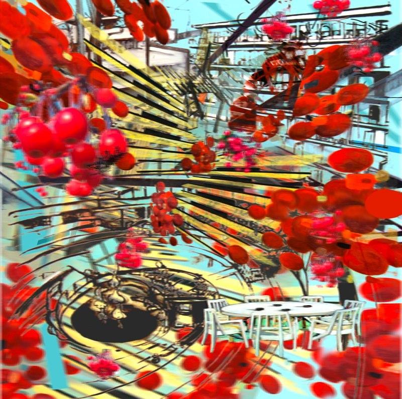 """Ascension , 3D lenticular Print , 24x24"""" , 2009-10"""