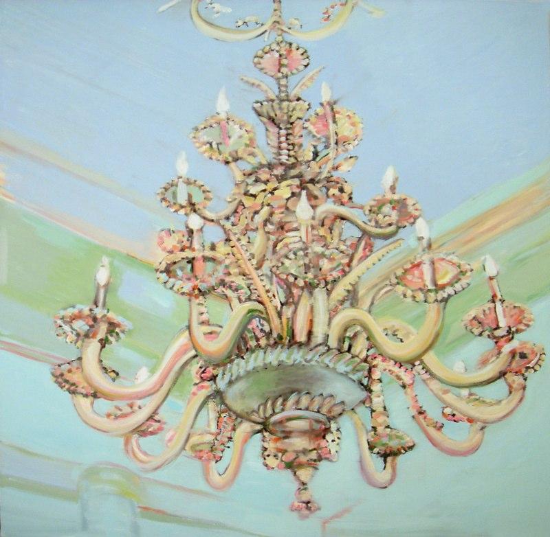 "Blue de Esta, oil on canvas , 48x48"" , 2010. Private Collection."