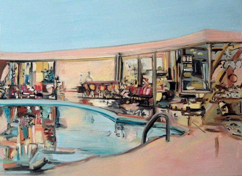 "Laszlo Pool , oil on linen , 24x36"" , 2007."