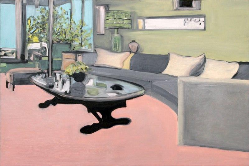"""Altadena , oil on linen , 24x36"""" , 2006.Private Collection,FL."""