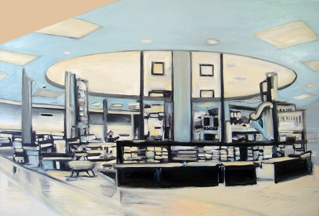 """Retail, oil on linen,  24x36"""", 2008."""