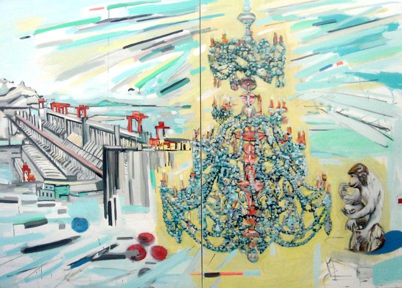 "Monkey Light , oil on canvas , 70x90"" , 2008-2010."