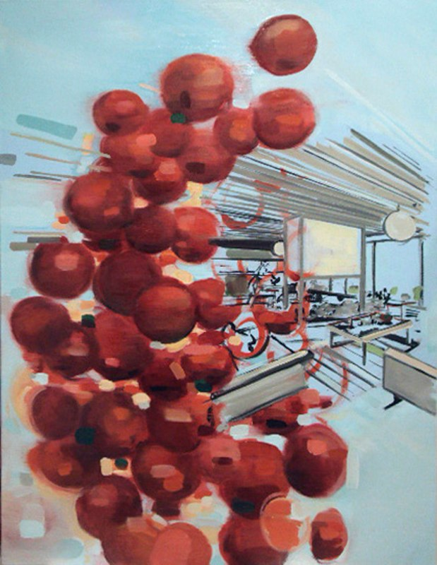"Cherry Koenig , oil on canvas , 40x30"" , 2012. Private Collection."