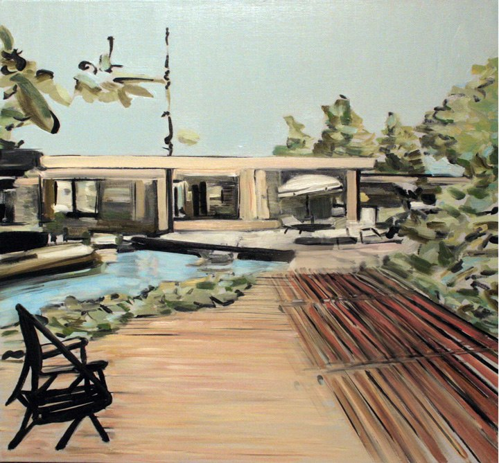 "Neutra Palm Spring , oil on canvas,  24x24"",  2010."