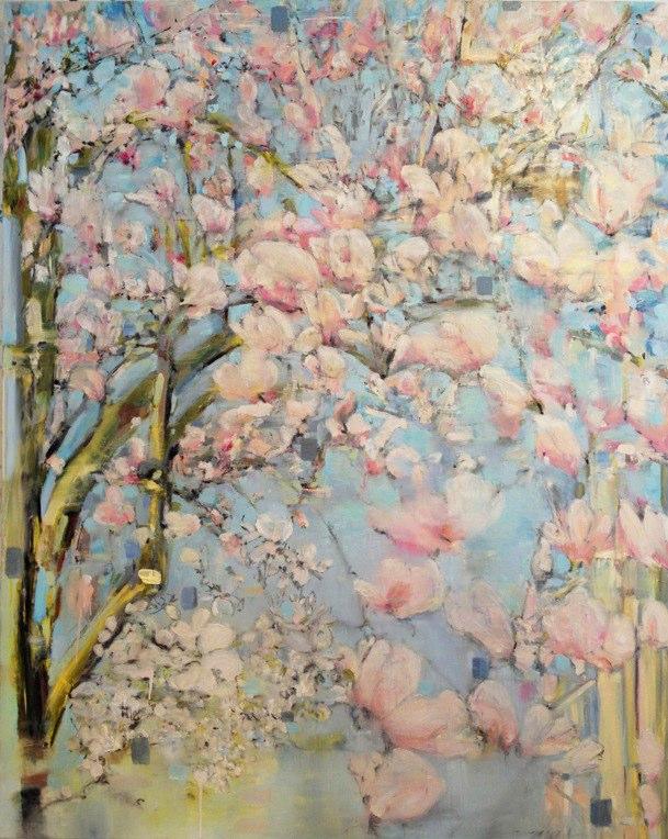 "Magnolia Park West , oil on canvas, 60x48"", 2014."