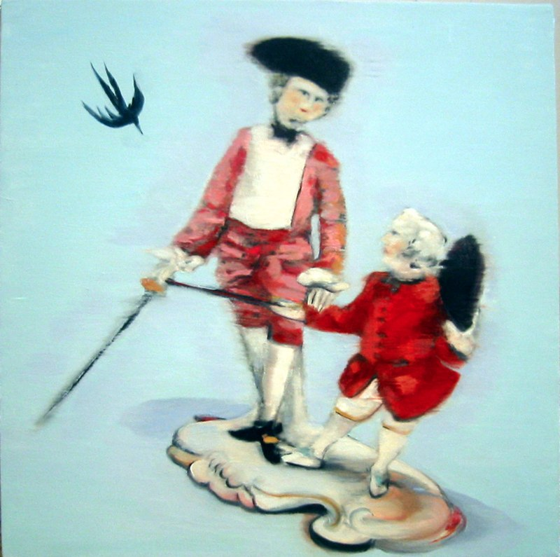 """Touch This , oil on canvas, 20x20"""", 2004. Private Collection,NY."""