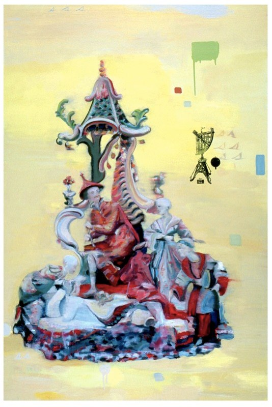 """Double , oil on canvas,  32x40"""", 2008. Private collection, NY."""