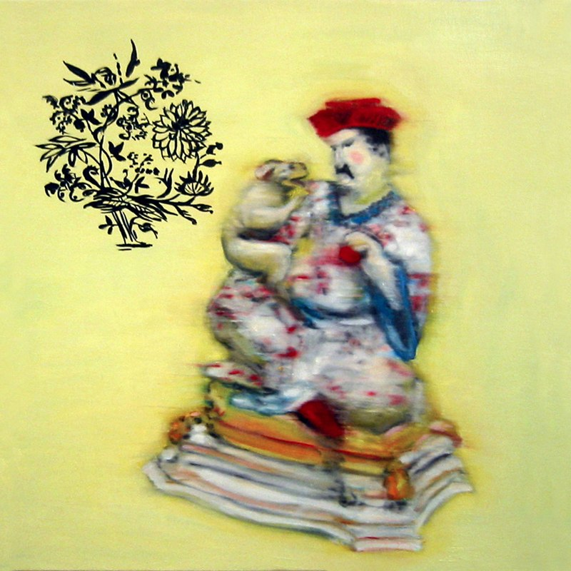"Advice , oil on canvas,  20x20"",  2004. Private collection, NY."