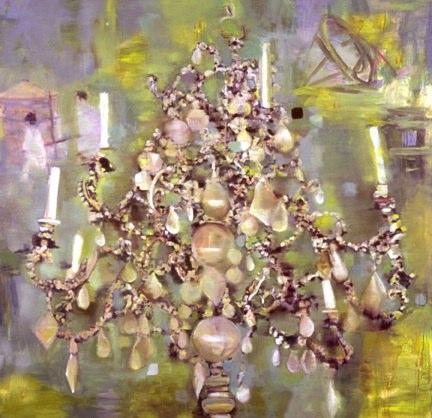 Suzerain , oil on canvas, 60x67 inches, 1999-2000. Private collection, MO.