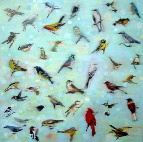 Converse , oil on canvas, 40x40 inches, 2000. Private collection, CA. Courtesy of Carole Laventhal, La Jolla, CA.