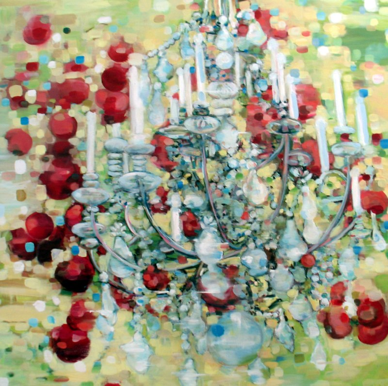 Fecund , oil on canvas, 48x48 inches, 2003-08. Private collection.