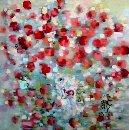 The Apple Tree , oil on canvas,  48  x 48 inches  , 2005. Private Collection,KS.