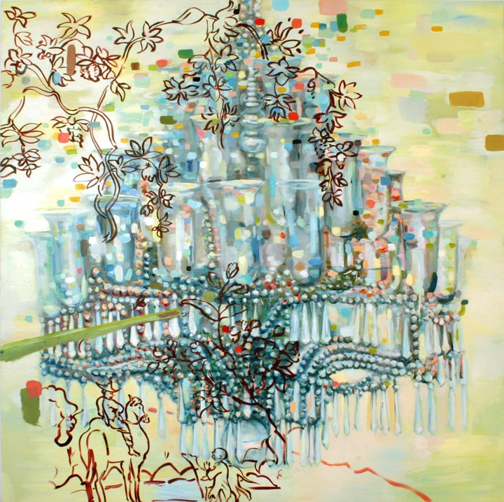 Road, oil on canvas, 60x  60 inches,  2008. Courtesy of the Bemis Center for Contemporary Arts.